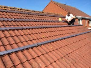 Solar panel mounting kit
