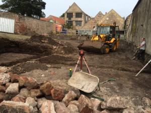 Establishing levels and ground works