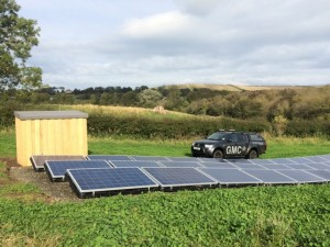 The Finished solar pv system