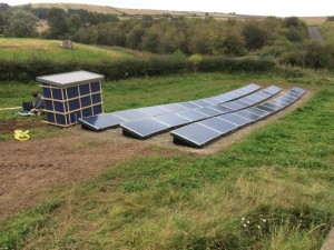 All the solar panels are fitted