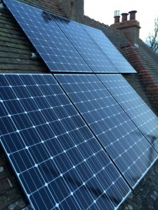 LG 300w Neon Black solar panel