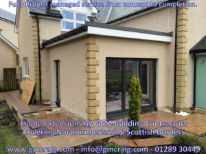 home extension in /berwick upon Tweed