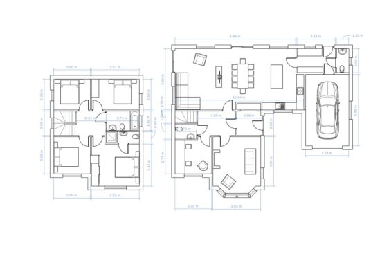 Floorplan with room dimensions of The Harthope 4 bedroom house for sale Village Meadows Lowick Northumberland