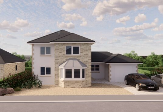 Streetview of plot 4 4 bedroom detached house for sale vvillage MEadows Lowick