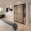 built in storage of the second double bedroom at The Linhope Village Meadows Lowick