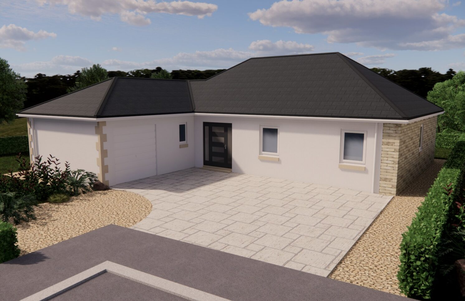 Detached bungalow the breamish at Village MEadows Lowick Northumberland