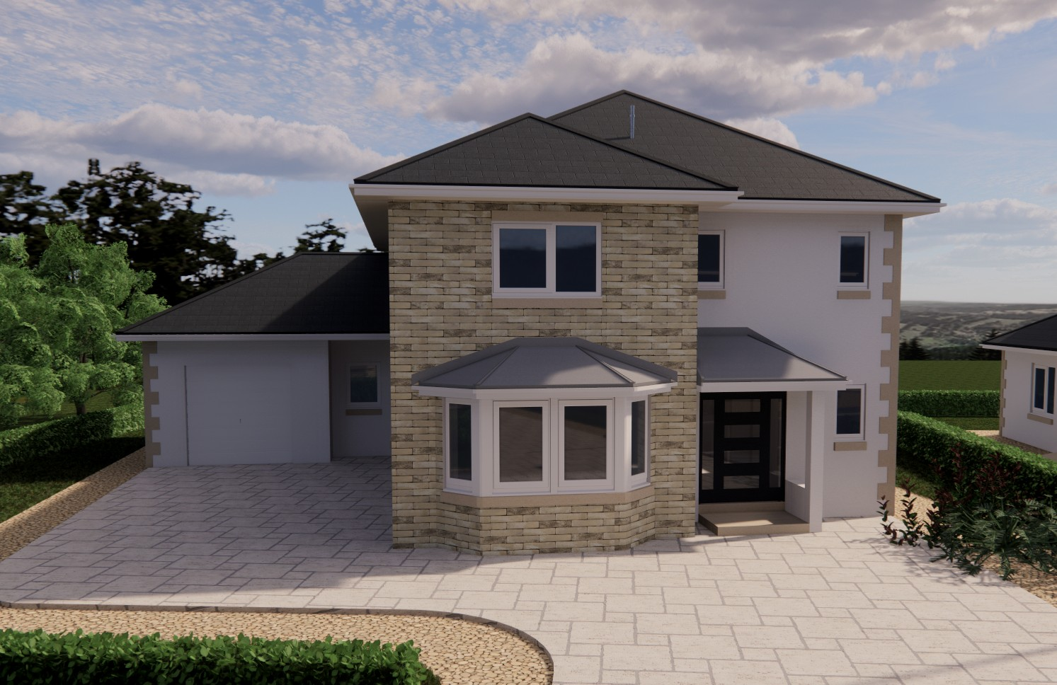 Luxury detached new build homuse Lowick Northumberland
