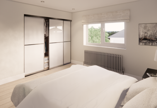 storage in third double bedroom at Village Meadows Lowick Northumberland
