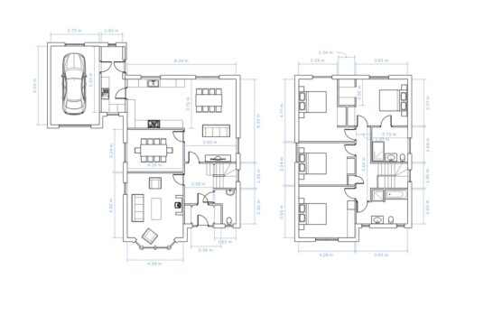 Floorplan with dimensions of The Linhope 4 bedroom house for sale Village Meadows Lowick Northumberland