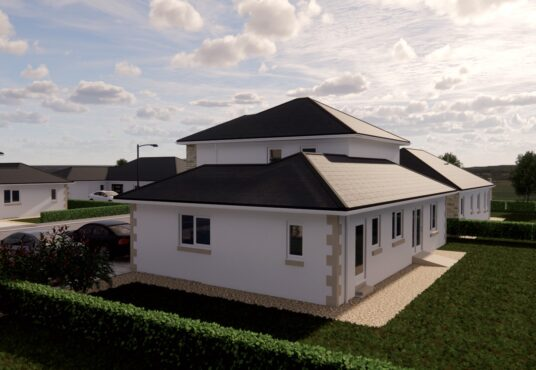Rear exterior view of The Harthope Village Meadows Lowick 4 bedroom detached house for sale